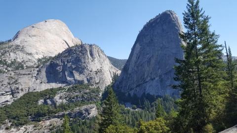 Half Dome 8,839' Mt Broderick 6,696' Liberty Cap 7,080'