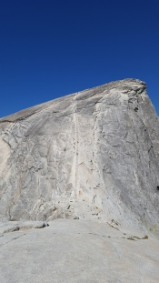On the Sub-Dome looking up toward the top of Half Dome