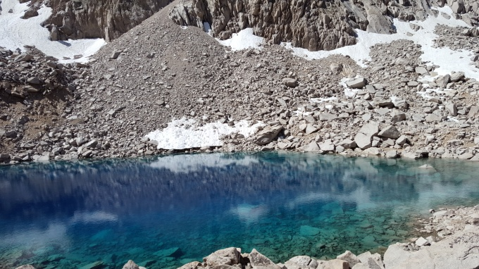Un-named lake after Glen Pass Colored by the minerals...