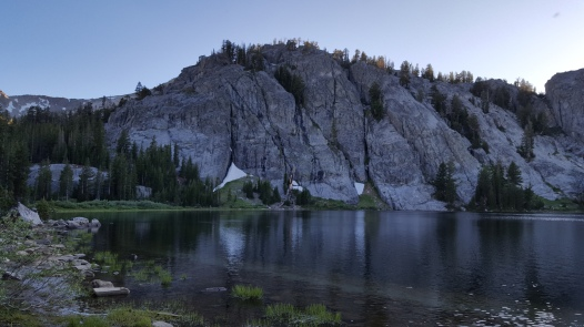 Rosalie Lake Tuesday, July 5th, 2016 View from tent site