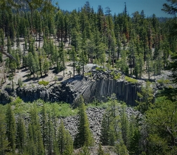 Devils Postpile Wednesday, July 6th, 2016 View from the JMT