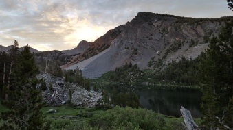 Purple Lake ~ 9,930' Friday, July 8th, 2016 View from tent site