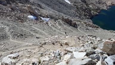 Descending Glen Pass