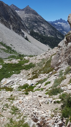 Golden Staircase Thursday, July 14th, 2016 N of Mather Pass