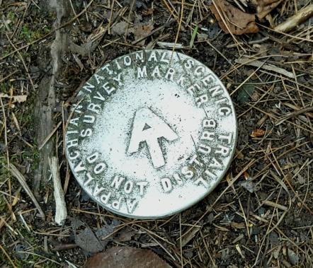 AT survey marker Beacon Hill