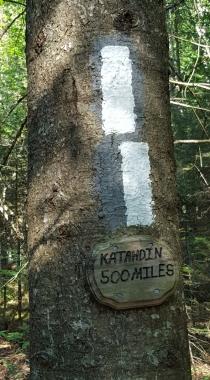 Appalachian Trail 500 Mile Marker to Mt Katadhin