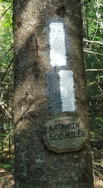 Appalachian Trail 500 Mile Marker to Mt Katadhin