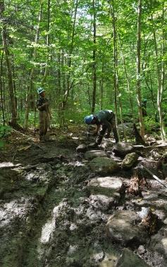 AmeriCorps Trail Maintenance Crew