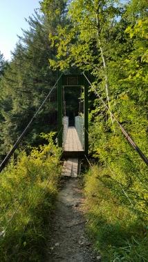 Suspension Bridge over Mill River Built 1974 Clarendon Gorge
