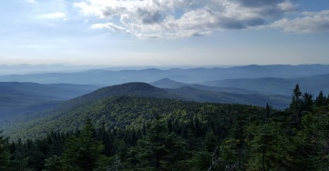 Long Trail View from Glastenbury Man fire tower Thursday, September 8th, 2016