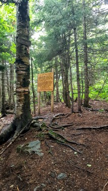 Northern Terminus Long Trail Signage