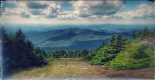 Looking east just before summit of Jay Peak