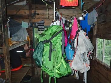 Hazen's Notch Camp Dry inside... Poured all night!