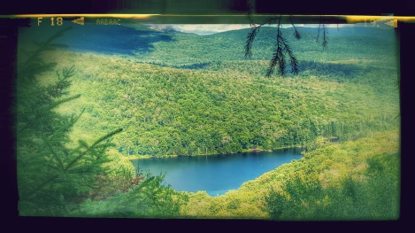 Devil's Perch Overlook just beyond the camp with views of Ritterbush Pond & Belvidere Mt.