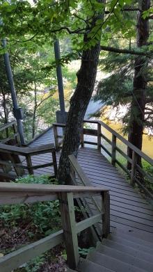 Descending toward Lamoille River