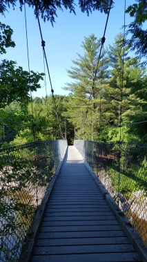 Suspension bridge over Lamoille River