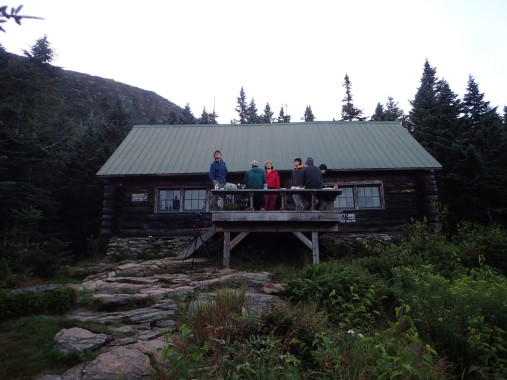 Taft Lodge perched on a shelf below the Chin 3,650' Built in 1920 Re-constructed in 1996