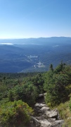 Looking back (north) while climbing Mt Mansfield