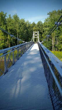 Suspension Bridge crossing Winooski River