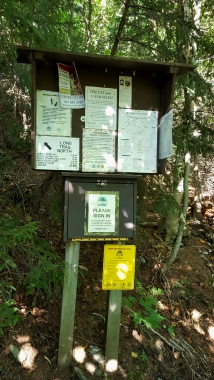 Appalachian Gap Signage at VT 17