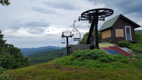 Middlebury Snow Bowl's upper chairlift station