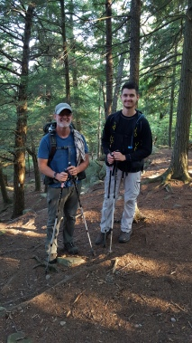 """Northbound AT thru hiker """"Big Cypress"""" joined by AT section hiker """"Animal"""" his son"""