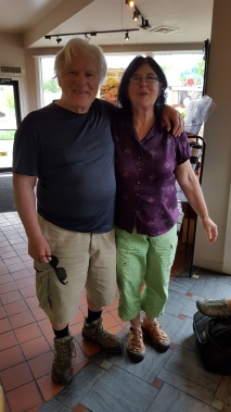 Manchester Center re-supply Ate lunch at a local cafe where I met Stratton Mountain caretakers...Hugh & Jeanne