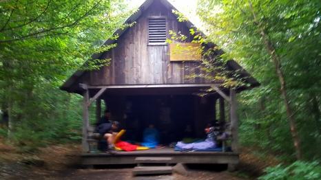 Misty morning Stratton Pond Shelter Built 1999 Sleeps twenty