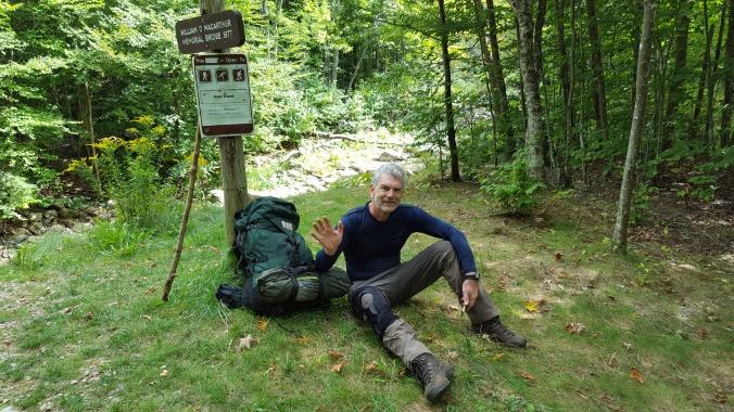 "Saying goodbye to my favorite hiking companion...""Coach"" City Stream William D MacArthur Memorial Bridge VT9"